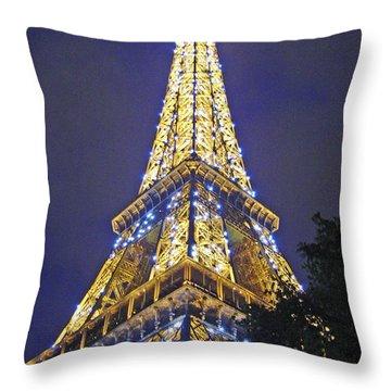Tour Eiffel 2007 Throw Pillow by Joanne Smoley