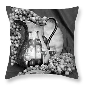 Throw Pillow featuring the photograph Tour Of Italy In Black And White by Sherry Hallemeier