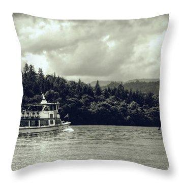 Touring The Lakes In Sepia Throw Pillow