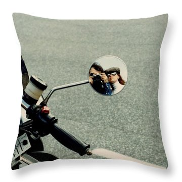 Touring With Your Honey Throw Pillow