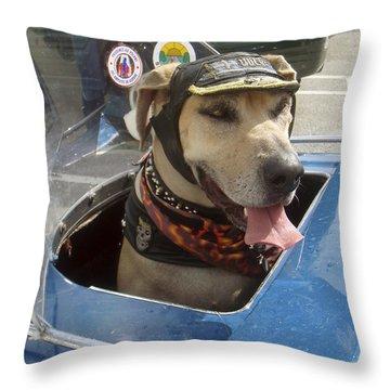 Tourist Dog 2 Square Throw Pillow