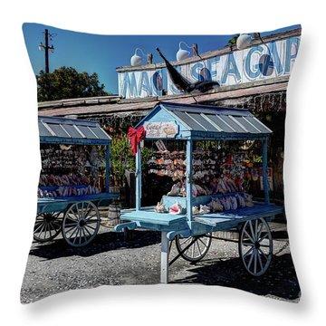Tourist Souvenir Shell Carts Throw Pillow