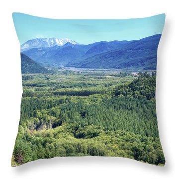 Toutle Valley, Wa Throw Pillow
