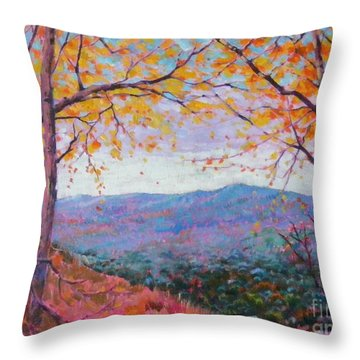 Toward Blue Ridge Throw Pillow
