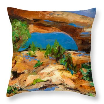 Toward The Arch  Throw Pillow