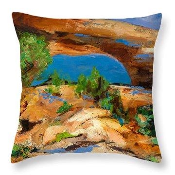 Toward The Arch  Throw Pillow