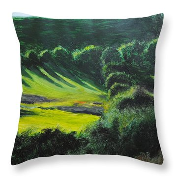 Towards Corwen Throw Pillow