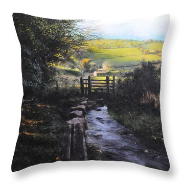 Towards Llanferres Throw Pillow