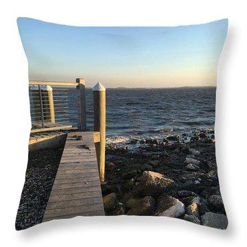 Towards The Bay Throw Pillow