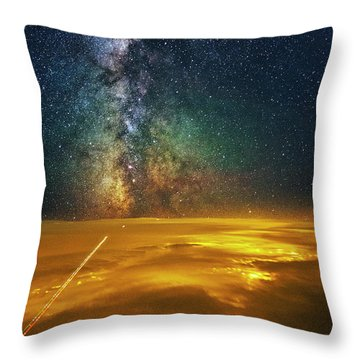 Towards The Core Throw Pillow