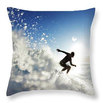 Towards The Light Throw Pillow by Sean Davey