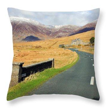 Towards The Mountain Throw Pillow