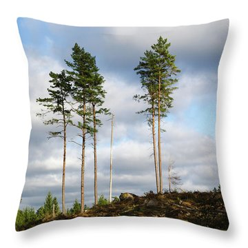 Throw Pillow featuring the photograph Towards The Sky by Kennerth and Birgitta Kullman