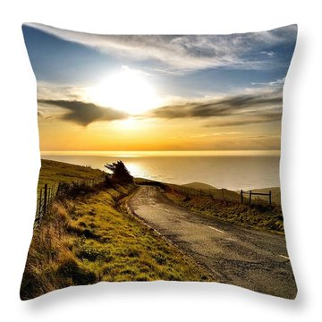 Towards The Sunset Throw Pillow