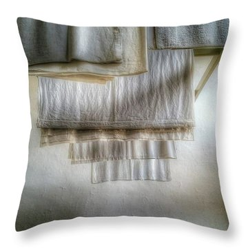 Towels And Sheets Throw Pillow