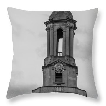 Tower At Old Main Penn State Throw Pillow by John McGraw