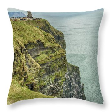Tower At The Cliffs Of Moher Throw Pillow