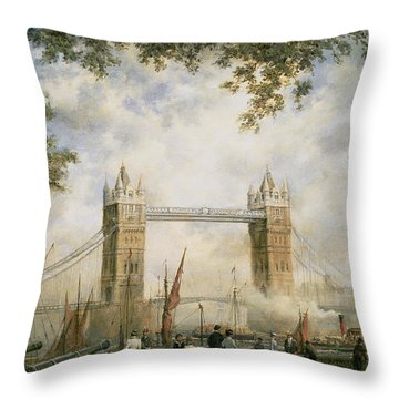 Tower Bridge - From The Tower Of London Throw Pillow by Richard Willis