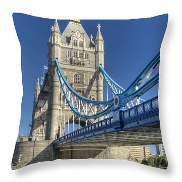 Tower Bridge 2 Throw Pillow by Chris Day