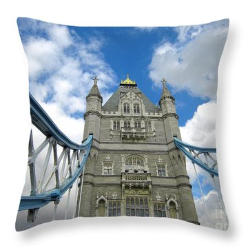Tower Bridge 2 Throw Pillow by Madeline Ellis