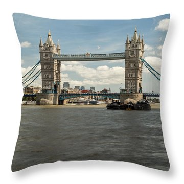 Tower Bridge A Throw Pillow
