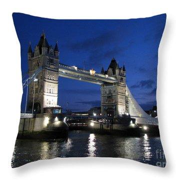Tower Bridge Throw Pillow by Amanda Barcon