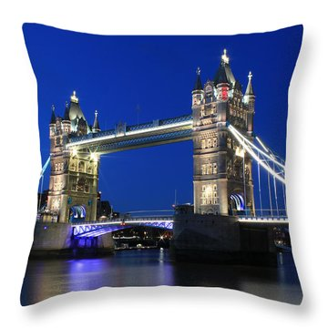 Tower Bridge At Night Throw Pillow
