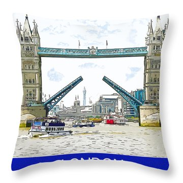 Tower Bridge London England Throw Pillow