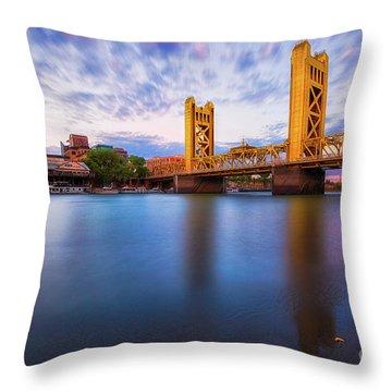 Tower Bridge Sacramento 3 Throw Pillow