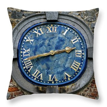 Tower Clock Throw Pillow