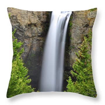 Tower Fall Throw Pillow by Greg Norrell