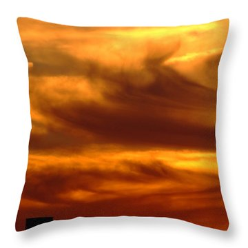 Tower In Sunset Throw Pillow