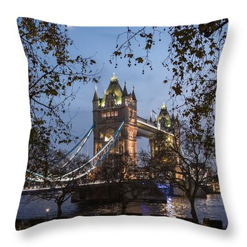 Tower Moon Throw Pillow