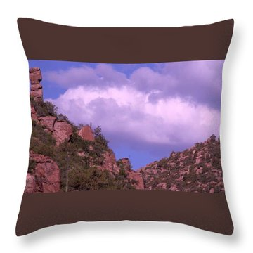 Tower Mountain Throw Pillow