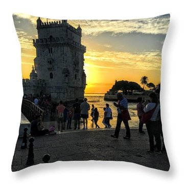 Tower Of Belem Throw Pillow