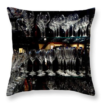 Tower Of Glass Throw Pillow by Donna Blackhall