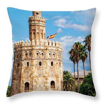 Tower Of Gold Throw Pillow