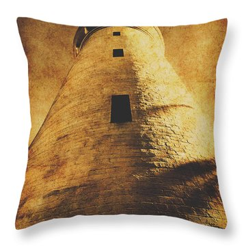 Tower Of Grunge Throw Pillow