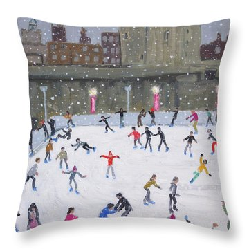 Tower Of London Ice Rink Throw Pillow
