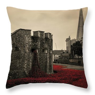 Tower Of London Throw Pillow by Martin Newman