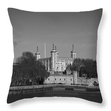 Tower Of London Riverside Throw Pillow