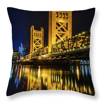 Tower Reflections Throw Pillow