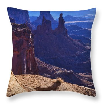 Tower Sunrise Throw Pillow by Chad Dutson