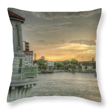 Tower Sunset Throw Pillow