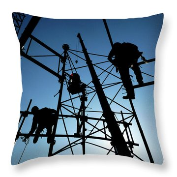 Tower Tech Throw Pillow by Robert Geary