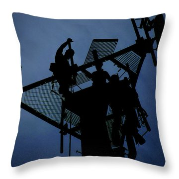 Throw Pillow featuring the photograph Tower Top by Robert Geary