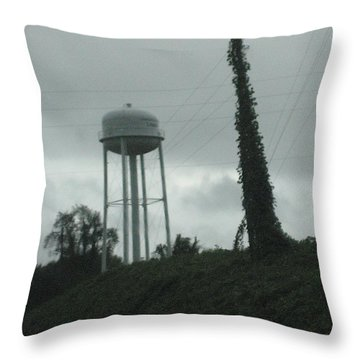 Tower With Intersecting Lines I Throw Pillow by Stephen Hawks