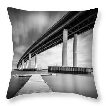 Throw Pillow featuring the photograph Towering Bridge by Gary Gillette