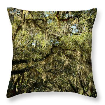 Towering Canopy Throw Pillow by Carla Parris