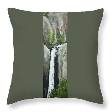 Towering Falls Throw Pillow